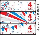 vector banner july 4... | Shutterstock .eps vector #97578215