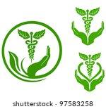 herbal health symbols | Shutterstock .eps vector #97583258