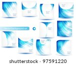 abstract blue vector template...