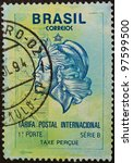 brasil   circa 1994  a stamp...   Shutterstock . vector #97599500