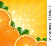 Orange Poster  Vector...