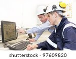 senior and junior engineers... | Shutterstock . vector #97609820