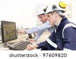 senior and junior engineers... | Shutterstock . vector #97609820