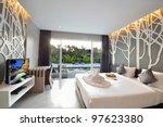 luxury bedroom interior design... | Shutterstock . vector #97623380