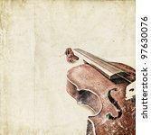 Retro Background With Old Violin
