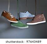 hanging shoes | Shutterstock . vector #97643489