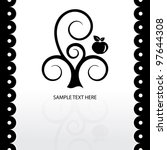 black and white vector tree... | Shutterstock .eps vector #97644308