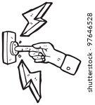 cartoon finger pushing button | Shutterstock . vector #97646528