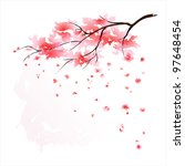 stylized japanese cherry tree... | Shutterstock .eps vector #97648454