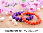 Multi Color Coral Bangles And...