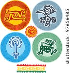 set of mexican design elements | Shutterstock .eps vector #97656485