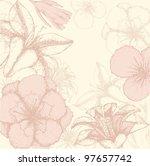 hand drawn flower background   Shutterstock .eps vector #97657742