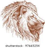 lion   Shutterstock .eps vector #97665254