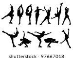 outline of figures of figure... | Shutterstock .eps vector #97667018
