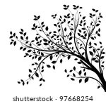 Tree Branches Silhouette...