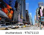 new york city  ny   aug 12 ... | Shutterstock . vector #97671113
