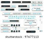 web design elements | Shutterstock .eps vector #97677113