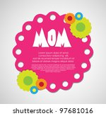 mothers day card | Shutterstock .eps vector #97681016