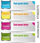 modern banner set   Shutterstock .eps vector #97682075