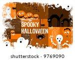 cartoon background about...   Shutterstock . vector #9769090