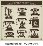 the set of vector vintage... | Shutterstock .eps vector #97695794