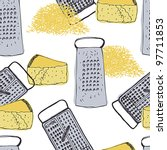 cheese and grater vintage...   Shutterstock .eps vector #97711853