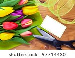 bouquet of flowers on a table... | Shutterstock . vector #97714430