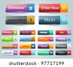 web elements vector button set | Shutterstock .eps vector #97717199