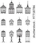 set of ornamental vintage... | Shutterstock .eps vector #97718786