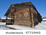Traditional Rural Wooden House...