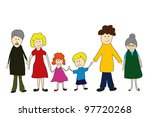 vector illustration of mother ... | Shutterstock .eps vector #97720268