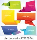 set of origami banners  vector... | Shutterstock .eps vector #97720304