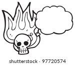 cartoon burning skull cartoon   Shutterstock . vector #97720574