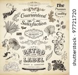 vector set of calligraphic... | Shutterstock .eps vector #97721720