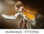 beautiful woman wearing white... | Shutterstock . vector #97721963