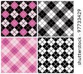 Argyle Plaid Pattern In Trendy...