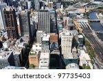 melbourne  australia. aerial... | Shutterstock . vector #97735403