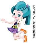 pretty teen | Shutterstock . vector #97736204