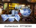 Set Of China Tea Pot On The...