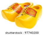 Wooden Shoe   Klomp Isolated O...