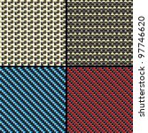 set of four carbon fiber ... | Shutterstock .eps vector #97746620