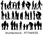 vector drawing parents and... | Shutterstock .eps vector #97746920