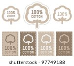 100  cotton icon set | Shutterstock .eps vector #97749188