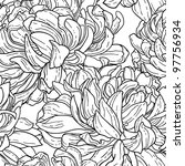 seamless floral black and white ... | Shutterstock .eps vector #97756934
