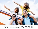 happy family wth two kids... | Shutterstock . vector #97767140