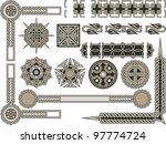 celtic traditional elements for ... | Shutterstock .eps vector #97774724