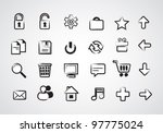set of icons | Shutterstock .eps vector #97775024