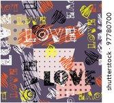 art seamless graffiti... | Shutterstock .eps vector #97780700