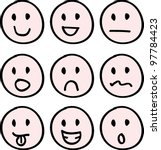 cartoon doodle faces for icons  ... | Shutterstock .eps vector #97784423