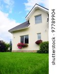 house and its garden | Shutterstock . vector #97789904